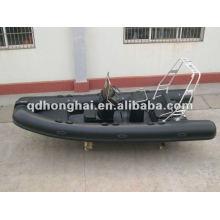 casco de fibra de vidrio de lujo barco de la costilla RIB520B con CE