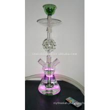 GH072-LT borosilicato de vidro cachimbo de água shisha / nargile / tubo de água / com luz led / sheesha / narguile