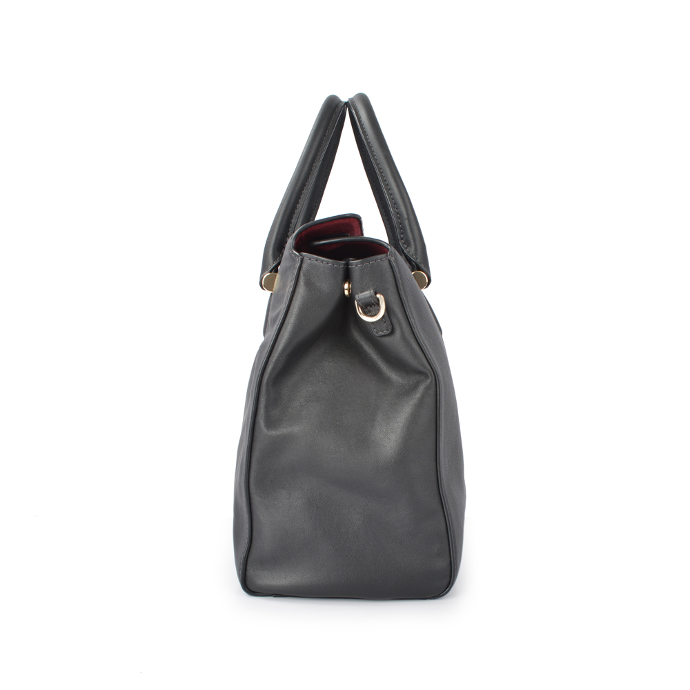 lady genuine cow leather tote bag