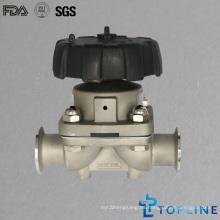 Válvula sanitaria de diafragma de acero inoxidable con puntas de sujeción (nuevo diseño)