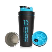 700ml Protein Shaker Flasche, Sport Flasche, Fitness Shaker Flasche, Fitness Schüttler, Edelstahl Shaker Flasche, Wasserflasche (KL-7068)