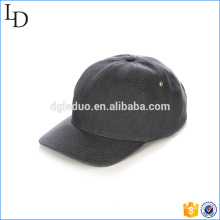 Casquette de baseball personnalisée en cuir noir réglable sangle papa casquette de baseball