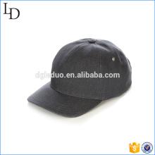 Adjustable black leather back strap dad hat cap custom baseball caps