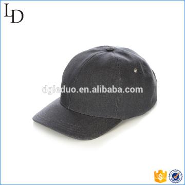 Tampão de chapéu de pai de cinta de couro preto ajustável de volta bonés de beisebol personalizado