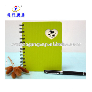 New design pp cover spiral recycle paper notebooks