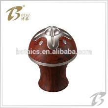 Plastikmaterial galvanisierende Vorhangstange dekorative Finials