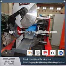 China Fabrik Preis Stahlblech runde Rohr Rohr rollen Formmaschine für Regen Auslauf