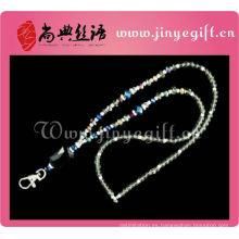 Al por mayor de Guangzhou Bling espumoso Crystal Beaded Keychain Lanyard