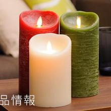 moving wick classic flameless led pillar candle