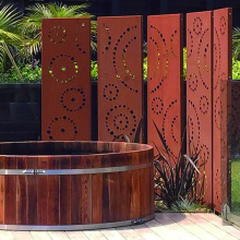 Laser Cutting Metal Privacy Screen