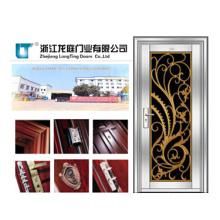 Porta de aço inoxidável da segurança do apartamento (LTSS-1008)