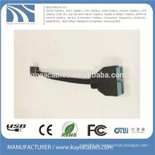 USB3.0 20Pin zu USB2.0 9pin weiblicher Adapter Kabel Verlängerungskabel