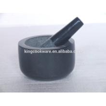 Venta caliente molienda de mortero y maja de mármol / piedra de granito