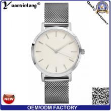 Yxl-269 Nuevo reloj de la correa de malla de los hombres de las mujeres Reloj de la pulsera de malla de la manera de acero inoxidable de la alta calidad Reloj de las señoras de la promoción