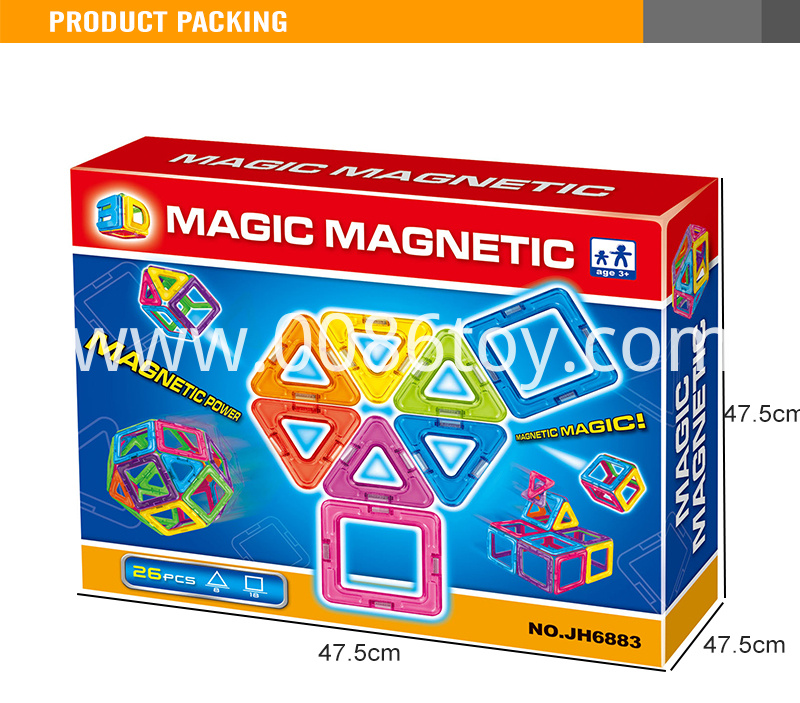 3magnetic triangle toy