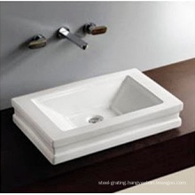 Hotel Use Sanitary Ware Bathroom Counter Under Hand Painted Ceramic Bowl