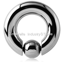 316L Surgical Steel Spring Ball Closure Ring