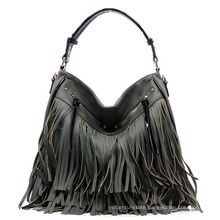 High Quality New Arrival Lady PU Leather Tassels Handbag