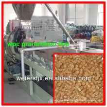 parallel twin screw extruder wpc granulator