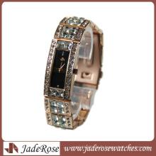 Montres de quartz exquis de mode de diamant montres