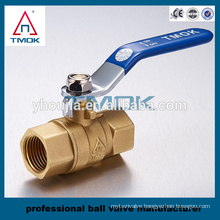 TMK 201 bronze ball valve contol valve PTFE packing 0-ring gasket gland nut three layer sealing PTFE seated brass ball valve