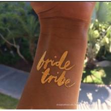 Tatuajes de novia, decoración del cuerpo del tatuaje de la boda diseño personalizado en buena calidad