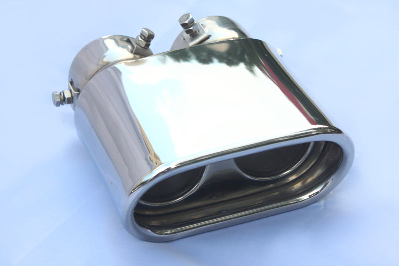 Dual Inlets Outlets Oval Double Walls Performance Exhaust Tips