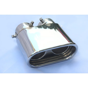 Dual Inlets Outlets Oval Performance Exhaust Tips
