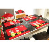 home hotel restaurant dining room table mats Knife and fork bag creative Christmas decoration