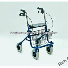 Powder coated heavy-duty steel frame rollator