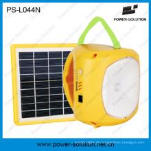 Portable 1.7W Solar Panel Lithium Batterie Mini Solar Camping Lampe mit Telefon aufladen