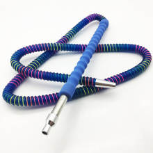 1.8m Blue Acrylic Hookah Shisha Hose with Glass Mouthpiece (ES-HH-011-3)