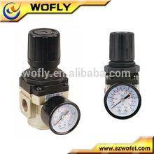 "Low price 1/4"" air pressure regulator with gauge"