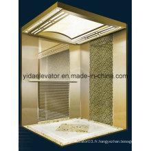 Ascenseur de passager avec miroir Acier inoxydable gravé (JQ-B025)
