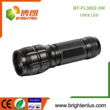 Factory Supply Pocket Zoom Focus Matériel en aluminium High Power XPE Cree led Flashlight 3w