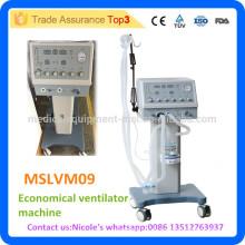 MSLVM09i Medical Trolley wirtschaftliche Ventilator Maschine Preis mit mehr als 18L Belüftungskapazität pro Minute