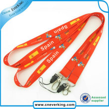 Factory Supplied Promotional Sublimation Lanyards for Mobile Phone