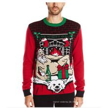 PK1818HX Hässliche Weihnachtsstrickjacke der Männer mit dem hellen Aufleuchten geführt
