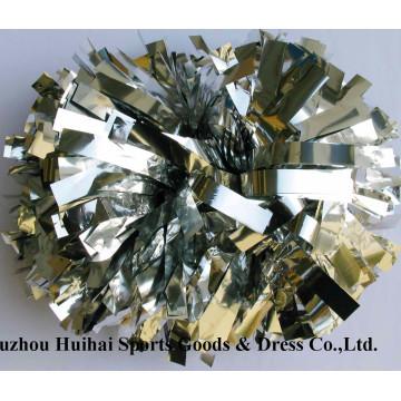 Metallic Silver POM POM