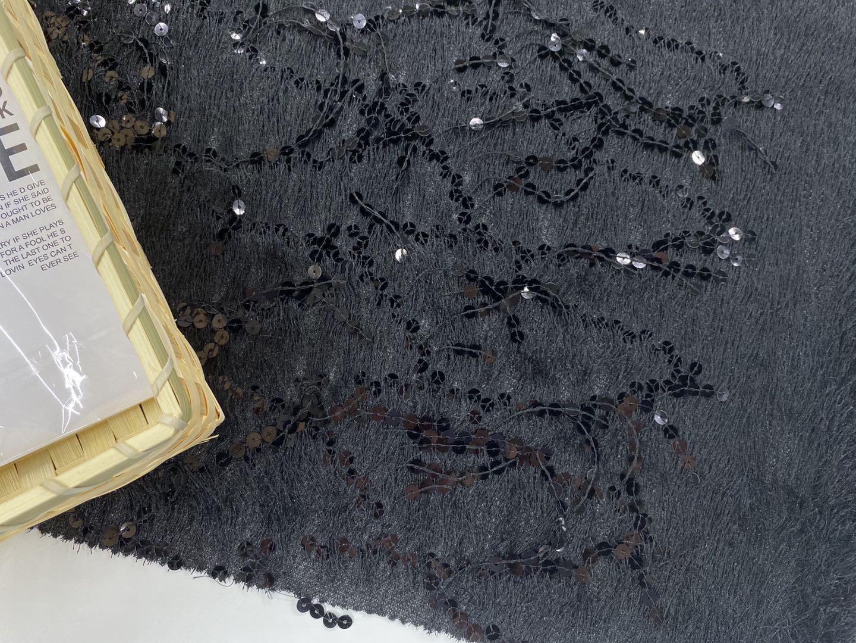 Velvet Spangle Embroidery Fabric