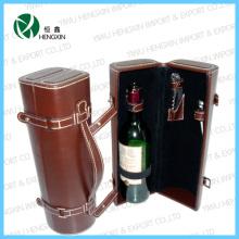 Коробка вина роскошной кожи вина (HX-PW016)