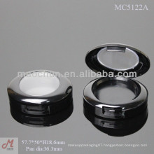 MC5122A plastic oval shaped eye shadow container with clear window lid
