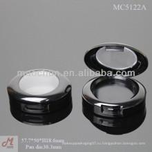 MC5122A пластиковый овальный контейнер для теней для глаз с прозрачной крышкой