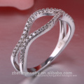 Fashion Diamond Engagement Wholesale Price latest silver rings design for women sapphire