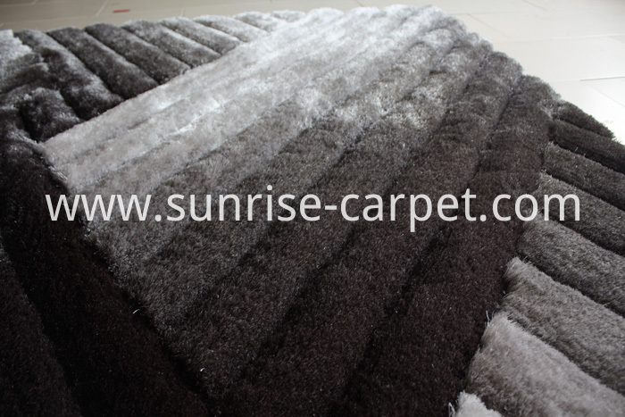 Polyester Silk Shaggy 3D Grey
