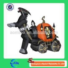 Halloween fantasma carruaje inflable halloween dibujos animados para la publicidad