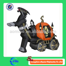 halloween ghost carriage inflatable halloween cartoon for advertising