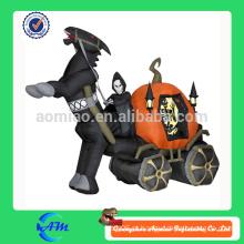 Halloween fantasma carruagem cartoon halloween inflável para a publicidade