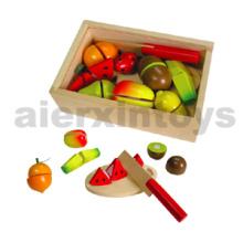 Juguete de frutas de corte de madera (80207)