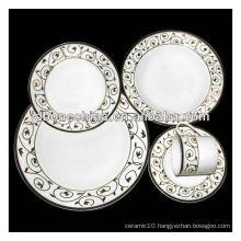 rectangular square shape bone china ceramic porcelain coffee tea set dinnerware
